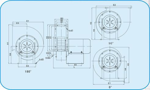 风机的工作原理与透平压缩机基本相同,只是由于气体流速较低,压力变化